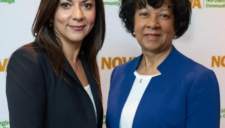 Dr. Lina Alathari and Provost Dr. Haggray