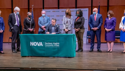 Governor Ralph Northam Signs G3 Bill at NOVA